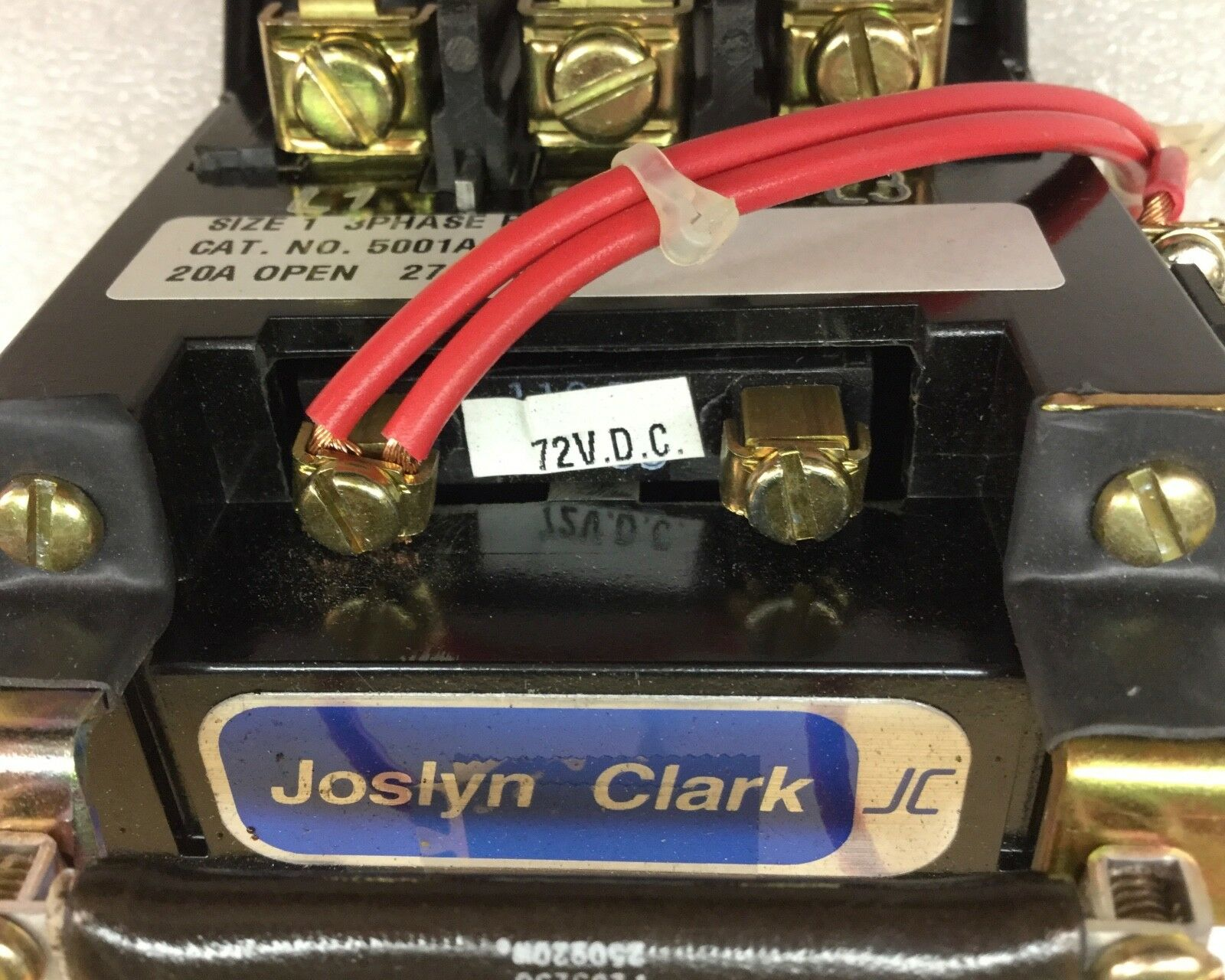 hight resolution of joslyn clark 5001a3000 42 contactor size 1 20amp 3 phase 5001a300042 ebay