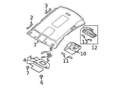 Genuine Nissan 2005-2008 Maxima Sunvisor Holder 96409
