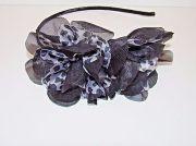 side ruffle headband animal leopard