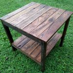 End Table Handmade Reclaimed Pallet Wood Upcycled Vintage Rustic Look For Sale Online