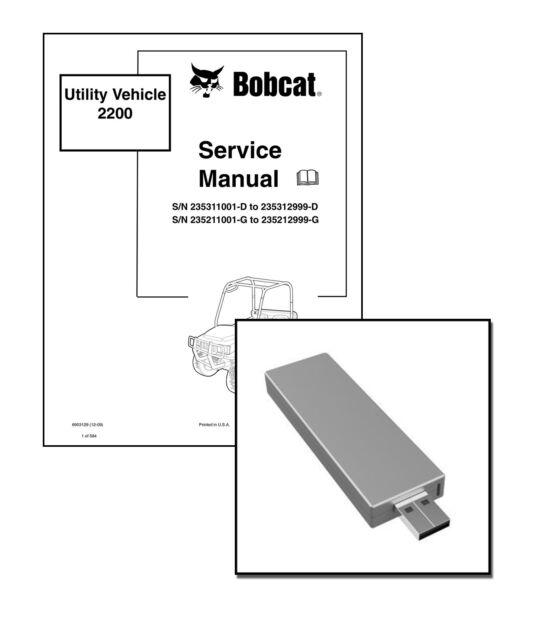 Bobcat 2200 2200s 2300 Utility Vehicle Service Manual Shop