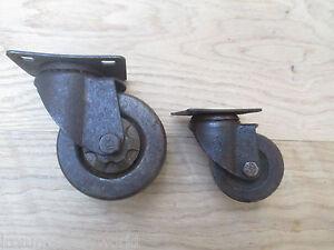 details sur fonte roulette roue picot vintage vieux style industriel rustique meuble