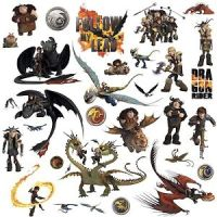 HOW TO TRAIN YOUR DRAGON 31 BiG Wall Decals Toothless ...