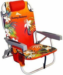 tommy bahama chair cooler backpack inglesina table new foldable beach with pocket image is loading