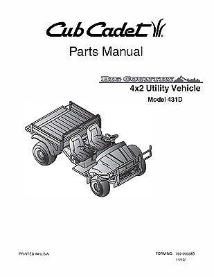 Cub Cadet Big Country 4x2 utility vehicle Operator Manual