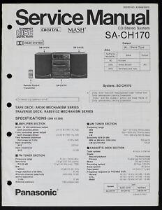 Panasonic SA-CH170 Original CD Stereo System Service