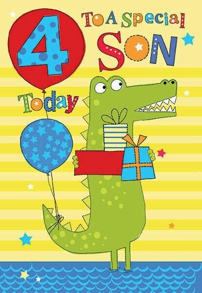 Happy 4th Birthday Son : happy, birthday, Special, Today, Crocodile, Presents, Design, Happy, Birthday, Online