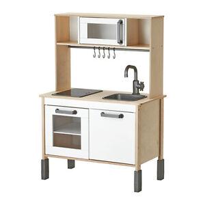wooden kids kitchen cabinets jacksonville fl ikea duktig childrens unisex mini play 3 adjustable image is loading