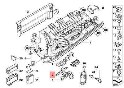 Genuine Glove Box Lock Upper Part BMW M3 X3 X5 E39 E46 E53