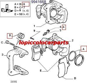 9941668 Kit Revisione per 2 Pinze Freno Posteriori Fiat