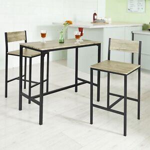 details sur sobuy ensemble table de bar 2 chaises table haute cuisine ogt03 n fr