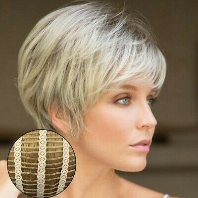 Ladies Wig Women Short Straight Natural Hair Cosplay Wigs Black