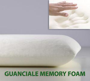 OFFERTA Guanciale Memory Foam Cuscino Letto 15 Cm Pillow Made in Italy SARANI  eBay