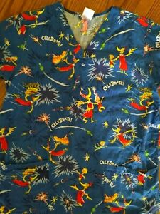 Dr Seuss Scrub Tops : seuss, scrub, Seuss, Scrub, Medium!!, EUC!!, Celebrate