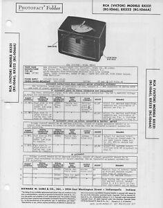 1948 RCA VICTOR 8X521 RADIO SERVICE MANUAL PHOTOFACT