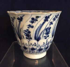 Chines Kangxi blue & white porcelain beaker / cup