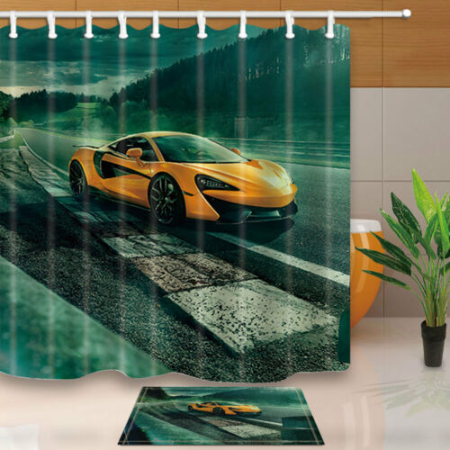 car shower curtain set luxury car at road bathroom curtain with hooks 71inches bathroom supplies accessories shower curtains