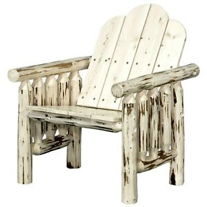 details about log patio chairs outdoor wood chair amish made rustic porch deck furniture
