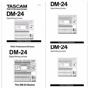 PDF . Tascam DM-24 Digital Mixing Console Owners Manual