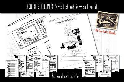ACU-RITE MILLPWR Service Manual Parts Lists Schematics