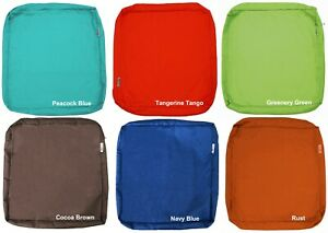 details about outdoor 4 pack seat chair patio cushions zipper cases 24 x22 x4 xl cover only