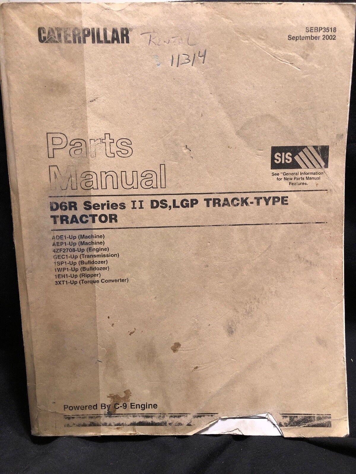 hight resolution of  cat caterpillar d6r series 2 ii tractor dozer crawler parts manual on