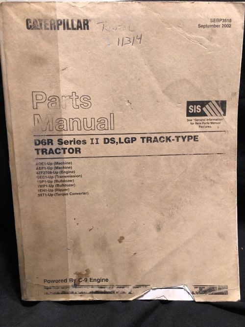 small resolution of  cat caterpillar d6r series 2 ii tractor dozer crawler parts manual on