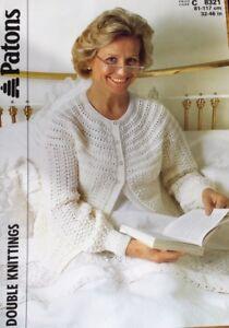 Ladies Bed Jacket : ladies, jacket, Patons, Knitting, Pattern, Ladies, Jacket, 32/46