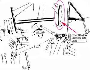 FITS Coronet Super Bee Belvedere GTX Door Glass Vent