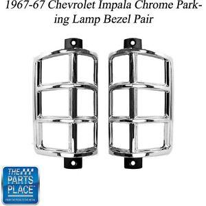 1967-67 Chevy Impala Front Chrome Parking Lamp Light
