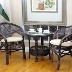 2 Chairs And Table Rattan Gel Office Chair Cushion Pelangi Wicker Lounge Set Of Coffee 3 Image Is Loading