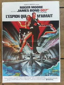 L Espion Qui M Aimait : espion, aimait, Affiche, L'ESPION, M'AIMAIT, James, Roger, MOORE, Barbara, 40x60cm