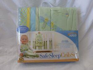 5 pc Halo Safe Sleep Sage Dragonfly Print Baby Crib ...