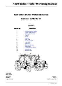Massey Ferguson 4300 Series Tractor Workshop Manual