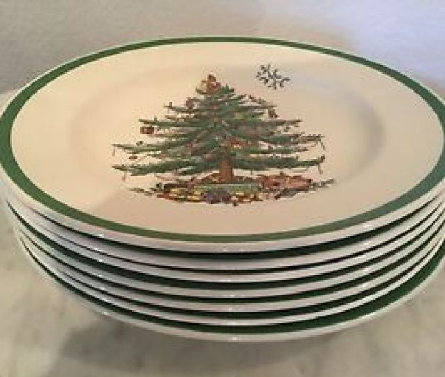 Image Is Loading Vintage Spode  Christmas Tree  Green Trim