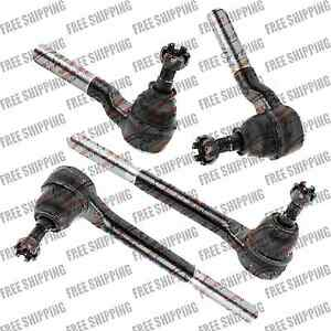 4WD Front Steering Kit Tie Rod End Inner+Outer For Chevy