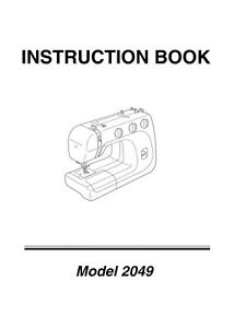 JANOME Harmony 2041 2049 * Choice: Instructions or Service