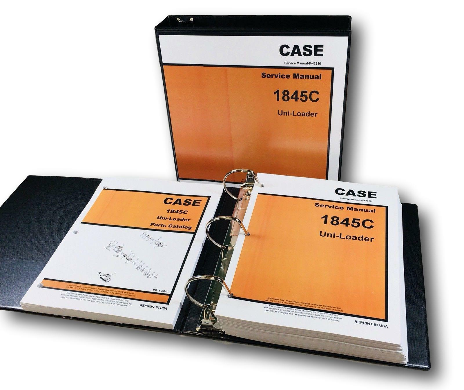 hight resolution of case 1845c uni loader skid steer service repair manual for sale online ebay