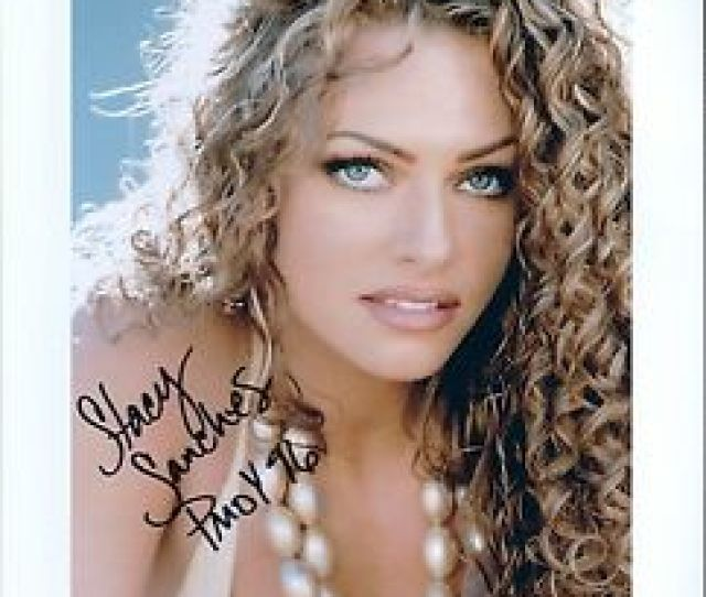 Image Is Loading Stacy Sanches Signed X Photo Sexy Playboy Pmoy