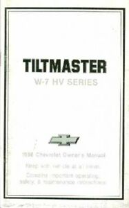 OEM Maintenance Owner's Manual Chevy Truck Tiltmaster W-7