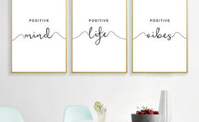 Simple Quotes Canvas Poster Black White Minimalist Wall