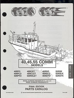 1993 OMC /JOHNSON / EVINRUDE 40 / 45 / 55 COMMERCIAL