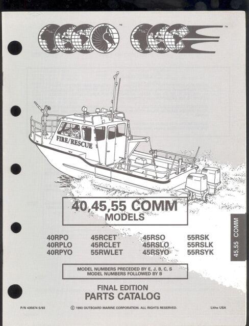 1993 OMC /JOHNSON / EVINRUDE 40 / 45 / 55 COMMERCIAL