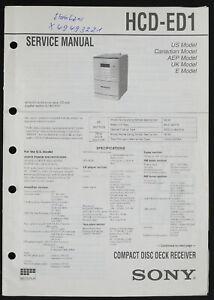 Sony HCD-ED1 Original Cd-Deck Receiver Service Manual