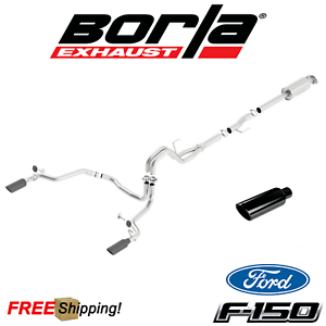 details about borla atak cat back exhaust fits 2015 2020 ford f150 ecoboost 2 7l 3 5l v6
