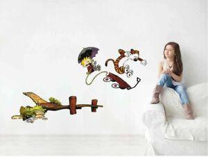 Calvin And Hobbes Story Wall Sticker Home Vinyl Art Decor Decal Mural Kids Room Ebay