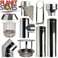 Stainless Shieldmaster Twin Wall Insulated Flue Stove Pipe ...