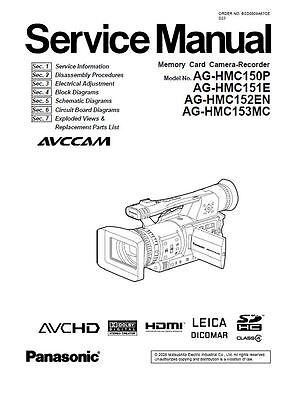 Panasonic AG-HMC150 HMC151 HMC152 HMC153 Service Manual