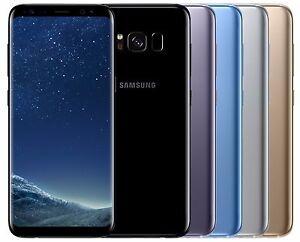 "Samsung Galaxy S8 SM-G950F (FACTORY UNLOCKED) 5.8"" 64GB Black Silver Gold Blue"