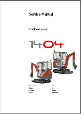 Wacker Neuson 1404 Track Excavator Service Repair & Parts